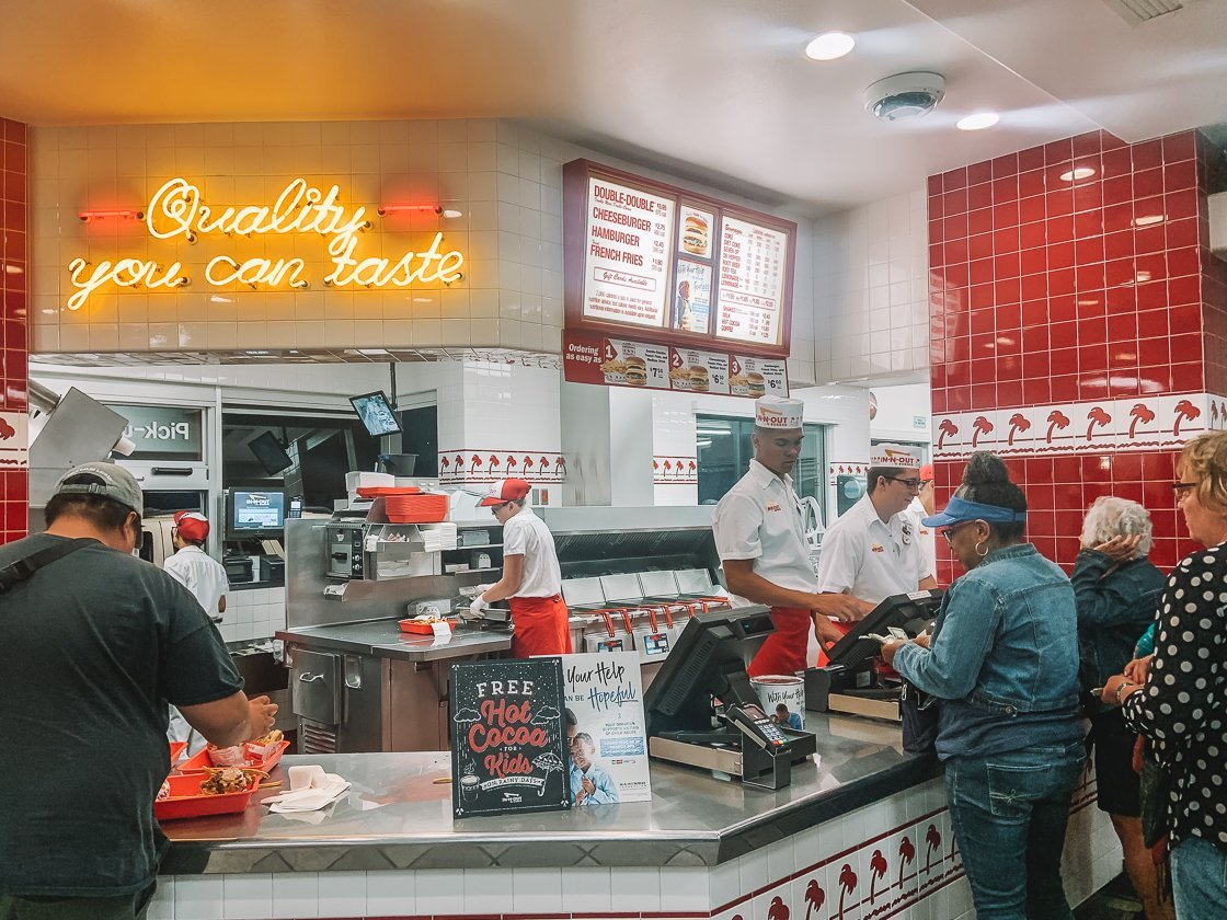 In-N-Out Burger, 2-week US itinerary