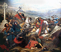 Battle of Poitiers (732), the Franks defeating the Moors