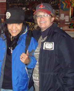 "Pictured: ""Karen Sullivan"" (right) with her associate ""Daniela Cardenas"""