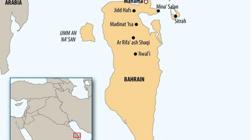 Location of Bahrain