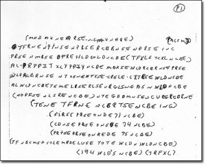 The meanings of the coded notes remain a mystery to this day (Clickl to enlarg)