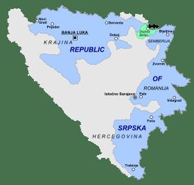 Location of Republika Srpska in Bosnia and Herzegovina.