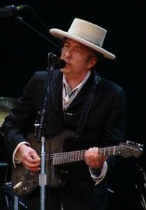 Dylan onstage at the Azkena Rock Festival, Vitoria-Gasteiz, Spain, June 26, 2010