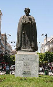 Statue of Ibn Khaldun in Tunis