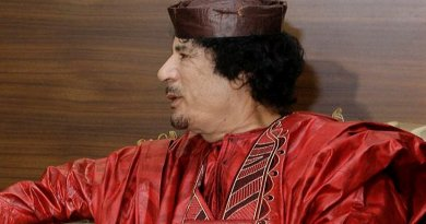 Libya's Muammar al-Gaddafi. Source: Spanish Prime Minister's Office. Wikipedia Commons.