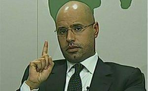 Saif al-Islam Gaddafi. Source: Screenshot from Libyan television.