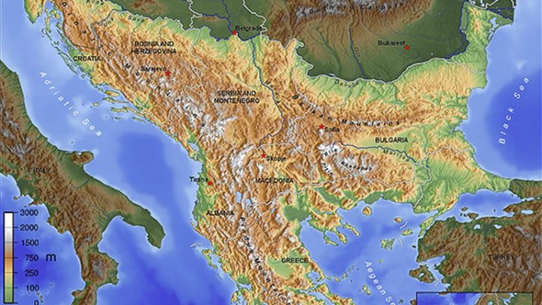Balkan region. Source: Wikipedia Commons.
