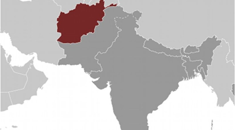 Location of Afghanistan. Source: CIA World Factbook.