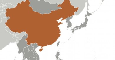 Location of China. Source: CIA World Factbook.