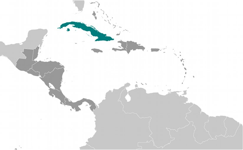 Location of Cuba. Source: CIA World Factbook.