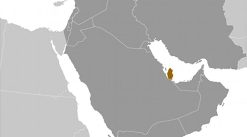 Location of Qatar. Source: CIA World Factbook.