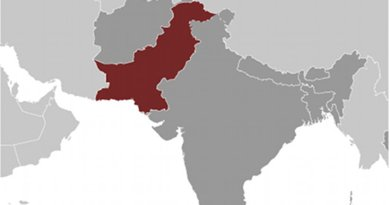 Location of Pakistan. Source: CIA World Factbook.