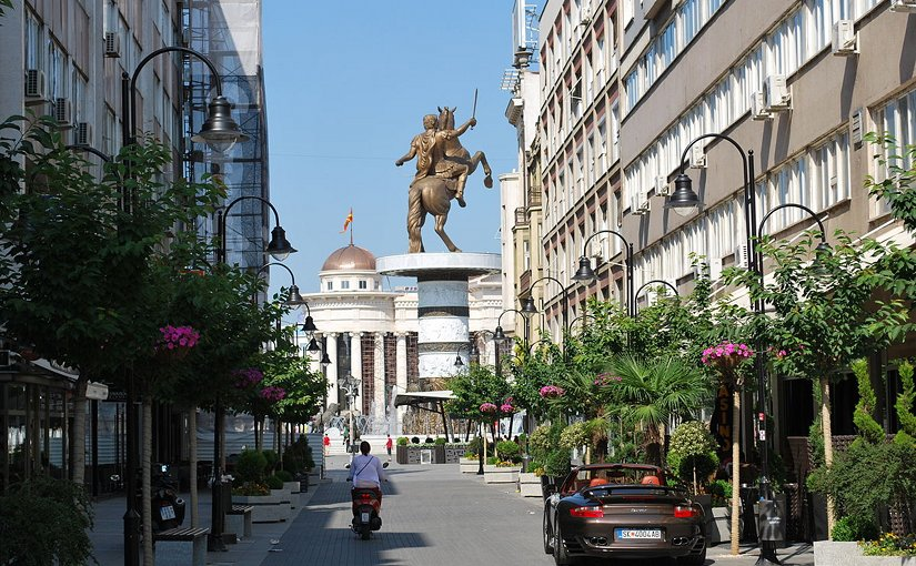 Skopje, Macedonia. Photo by Rašo, Wikipedia Commons.