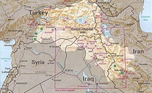 Kurdish-inhabited area, by CIA