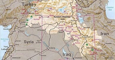 Kurdish-inhabited area, by CIA