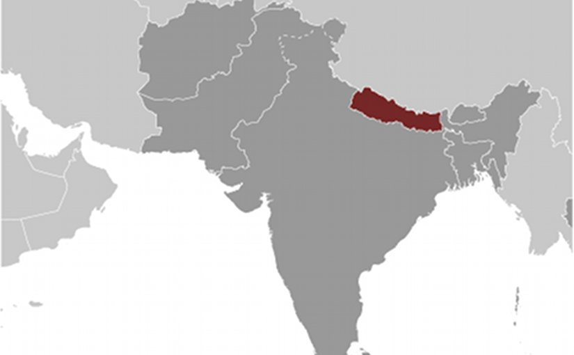 Location of Nepal. Source: CIA World Factbook.