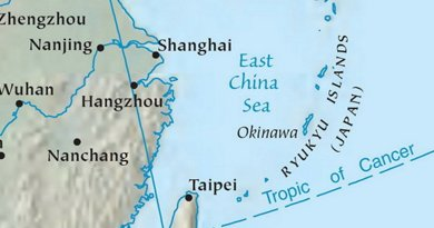 East China Sea. Source: CIA World Factbook.