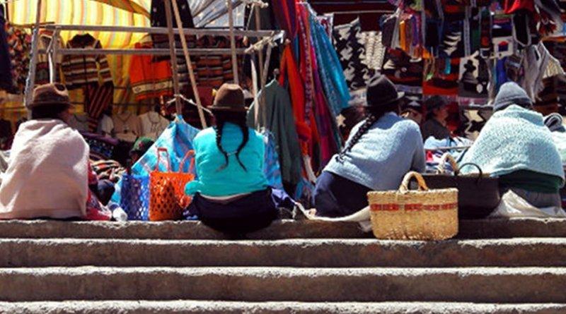 Women in Ecuador market.