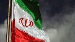 Flag of Iran. Photo by Farzaaaad2000, Wikipedia Commons.