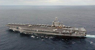 USS George Washington. Photo by U.S. Navy photo by Photographer's Mate Airman Joan Kretschmer, Wikipedia Commons.