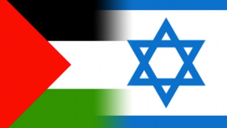 Israel and Palestine flags