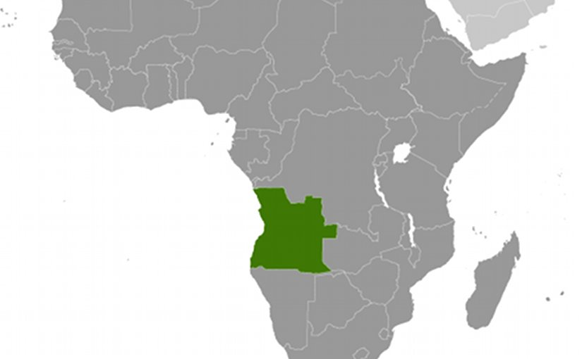 Location of Angola. Source: CIA World Factbook.
