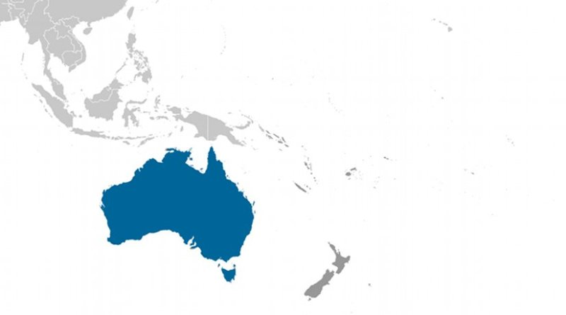 Location of Australia. Source: CIA World Factbook.