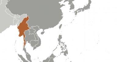 Location of Myanmar (Burma). Source: CIA World Factbook.