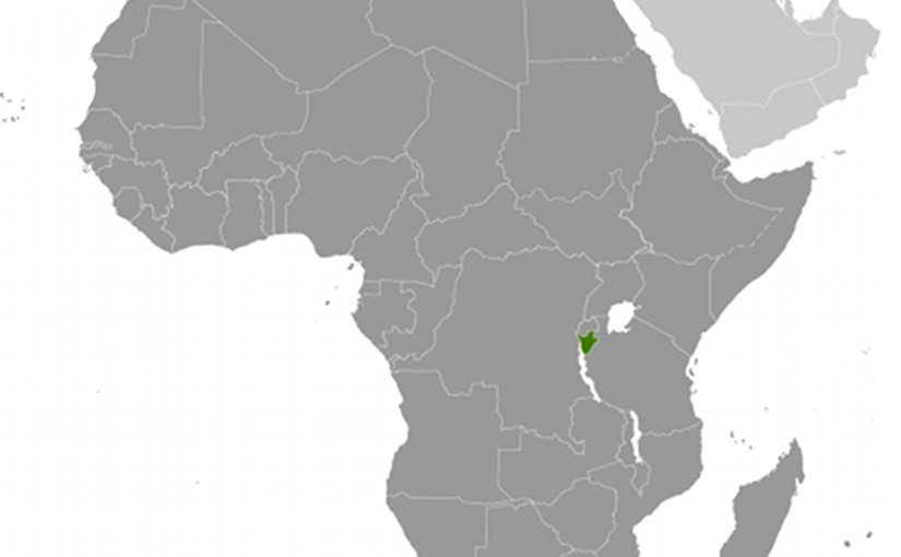 Location of Burundi. Source: CIA World Factbook.