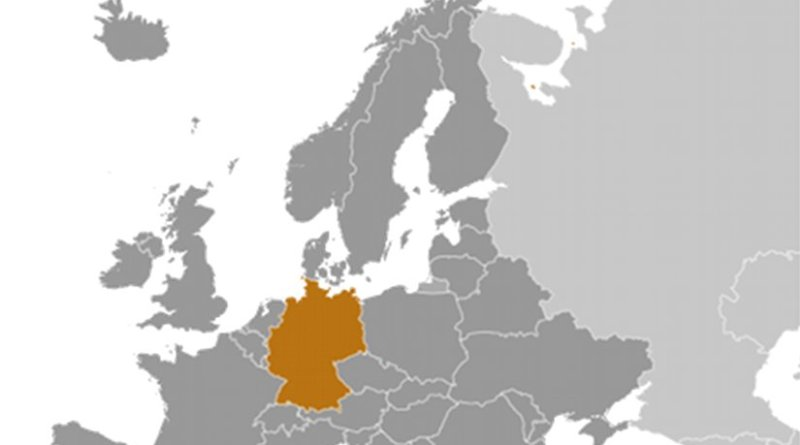 Location of Germany. Source: CIA World Factbook.