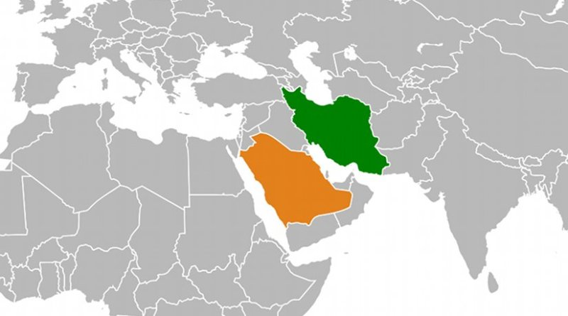 Location of Iran and Saudi Arabia. Source: Wikipedia Commons.
