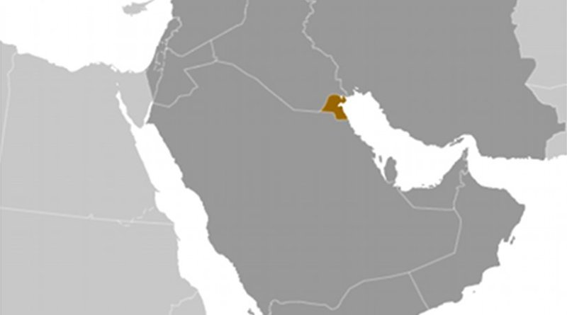 Location of Kuwait. Source: CIA World Factbook.