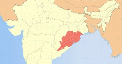 Location of Odisha in India. Source: Wikipedia Commons.