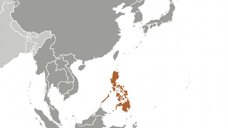 Location of Philippines. Source: CIA World Factbook.