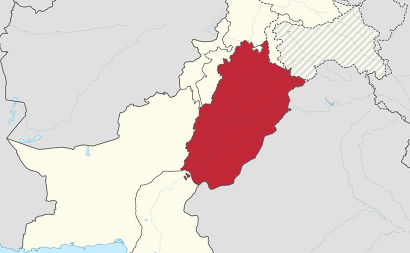 Location of Punjab in Pakistan. Source: Wikipedia Commons.