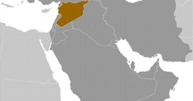 Location of Syria. Source: CIA World Factbook.