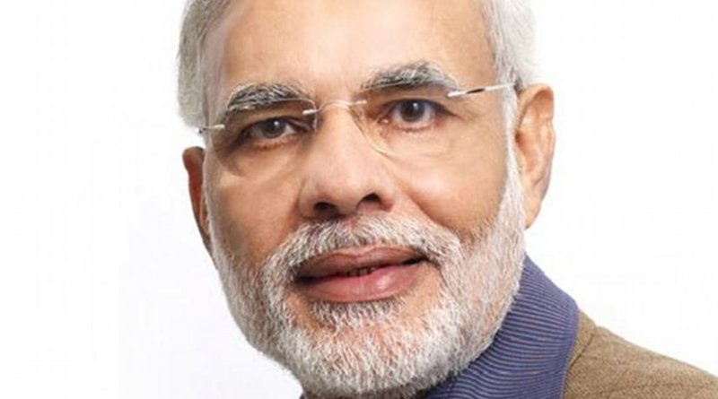 India's Narendra Damodardas Modi. Photo from Narendra Modi's social networks, Wikipedia Commons.