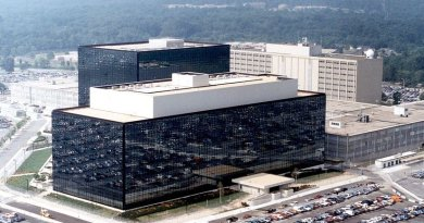 Headquarters of the NSA at Fort Meade, Maryland.. Source: NSA, Wikipedia Commons.