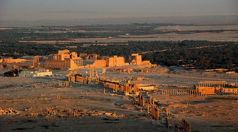 Palmyra, Syria. Photo by James Gordon, Wikipedia Commons.