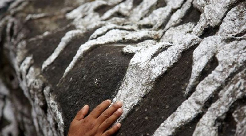 Prayer stone in Nepal