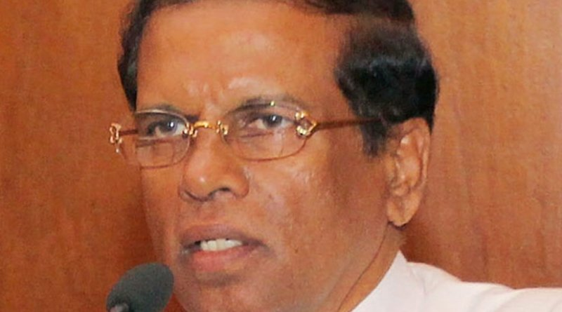 Sri Lanka's Maithripala Sirisena. Source: Sri Lanka government.