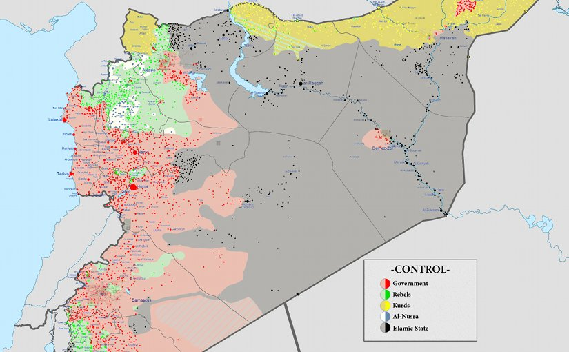 Syrian civil war. Source: Wikimedia Commons.