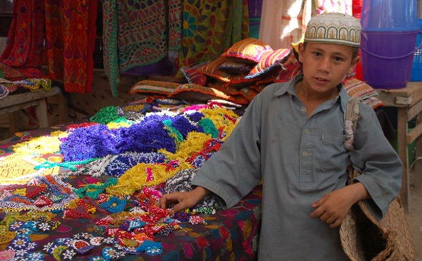 Boy in bazaar in Afghanistan.