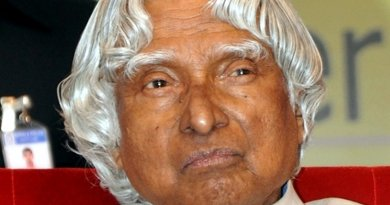 Former Indian President, A.P.J. Abdul Kalam. Photo Credit: Kannan Shanmugam studio,Main Road, Kollam, Wikimedia Commons.