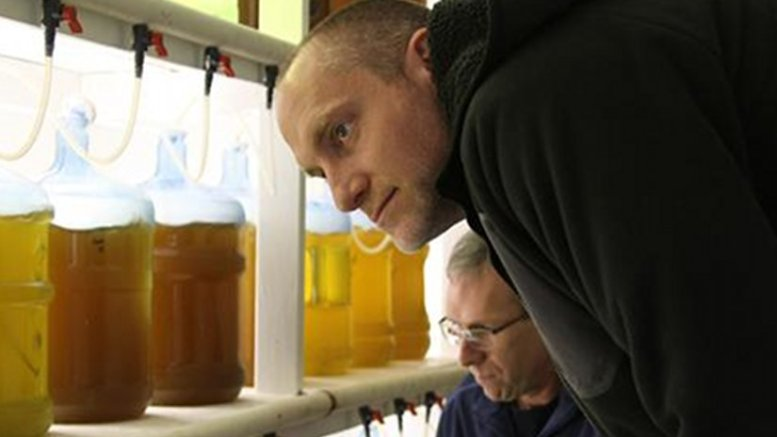 George Waldbusser (near) and Burke Hales of OSU work with the oyster industry on acidification monitoring and mitigation. Source: OSU