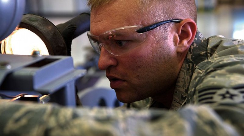 Aerospace Ground Equipment craftsman remains vigilant over 761 pieces of equipment for MQ-1 Predator and MQ-9 Reaper unmanned aerial vehicles (U.S. Air Force/Christian Clausen)