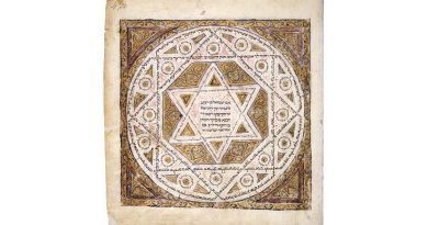 The Star of David in the oldest surviving complete copy of the Masoretic text, the Leningrad Codex, dated 1008. Credit, Shmuel ben Ya'akov, Wikipedia Commons.