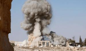 Photo showing Baalshamin destruction on 8/23/2015