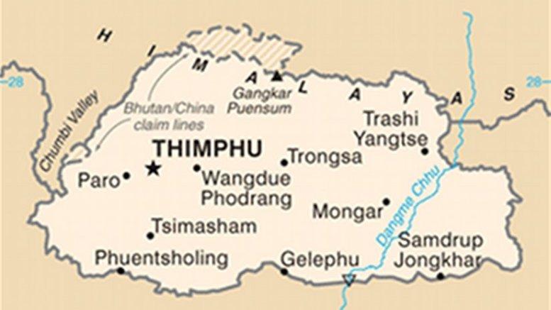 Map of Bhutan. Source: CIA World Factbook.