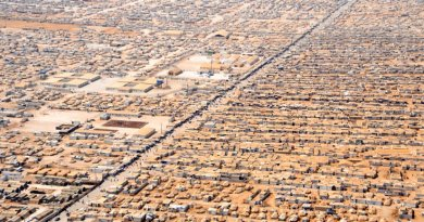 Zaatari camp for Syrian refugees in Jordan. Photo Credit. U.S. Department of State, Wikipedia Commons.